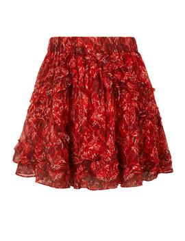 Dazzle Ruffled Printed Georgette Mini Skirt by Iro