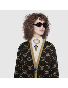 Wool Cardigan With Gg Motif by Gucci
