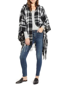 Plaid Hooded Poncho by Treasure & Bond