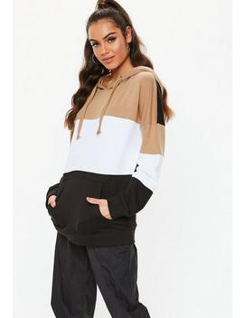Black Colourblock Hoodie by Missguided