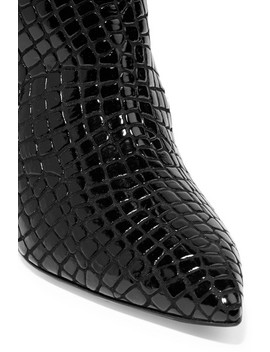 Asia Croc Effect Leather Over The Knee Boots by Attico
