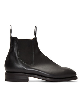 Black Comfort Craftsman Chelsea Boots by R.M. Williams