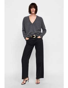 Cashmere V  Neck Sweater Minimal Collection Knitwear Woman by Zara