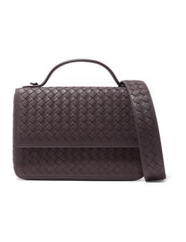 Alumna Intrecciato Leather Shoulder Bag by Bottega Veneta