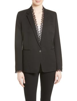 Lace Trim Suit Jacket by The Kooples