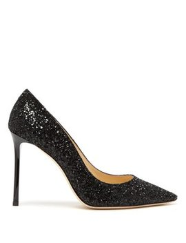 Romy 100mm Glitter Pump by Matches Fashion
