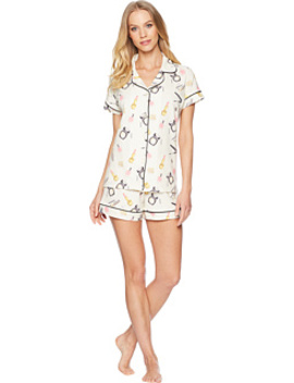 Makeup Party Short Sleeve Shorts Pajamas by Bed Head