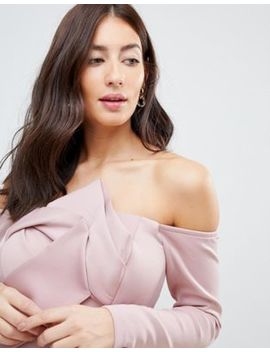 Asos Maternity Long Sleeve Bandeau Origami Front Midi Dress by Asos Maternity