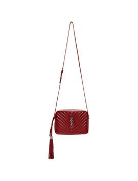 Red Medium Lou Camera Bag by Saint Laurent