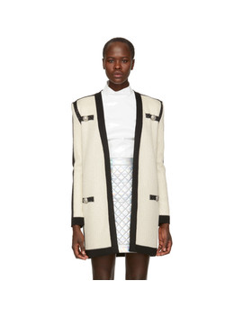 Off White Tie Up Cardigan by Balmain