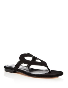 Women's Te Amo Suede Thong Sandals by Isa Tapia