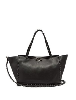 Rolling Rockstud Medium Leather Tote by Matches Fashion