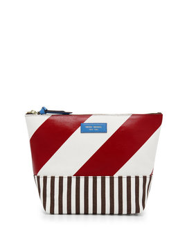 Striped Canvas Large Cosmetic Case by Henri Bendel