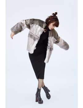 Contrast Faux Fur Jacket  Trending Nowwoman by Zara