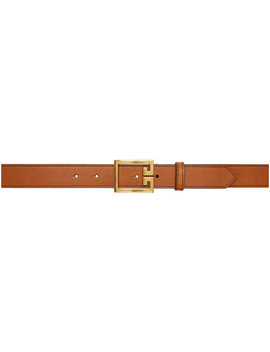 Tan Leather Gv3 Belt by Givenchy