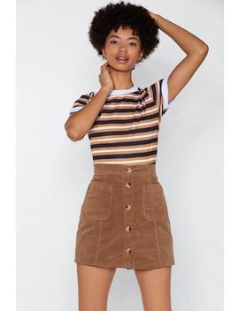 Button Down Cord Mini Skirt by Nasty Gal
