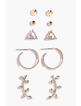 Ear Cuff & Stud 5 Earring Set by Boohoo