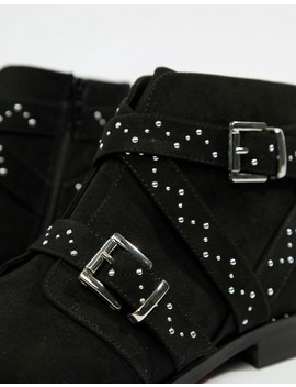 Asos Design Wide Fit Adrift Studded Ankle Boots by Asos Design