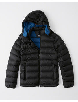 Lightweight Down Filled Convertible Hood Packable Puffer by Abercrombie & Fitch