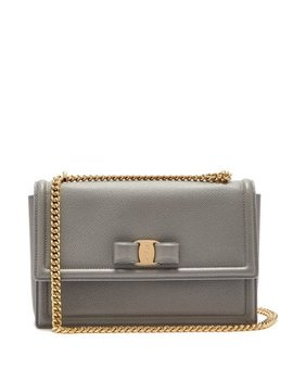 Ginny Medium Leather Shoulder Bag by Matches Fashion