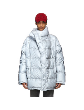 Grey Down Profile Collar Jacket by Balenciaga