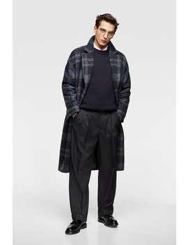 Long Plaid Coat  Knitwearman Stories by Zara