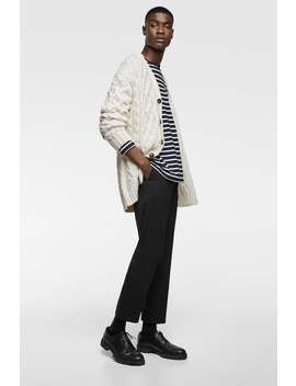 Cable  Knit Cardiganknitwear Man Stories by Zara