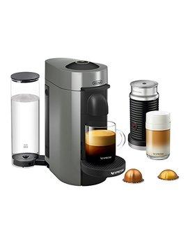 Nespresso Vertuo Plus Coffee And Espresso Maker Bundle With Aeroccino Milk Frother By De'longhi, Grey by De Longhi