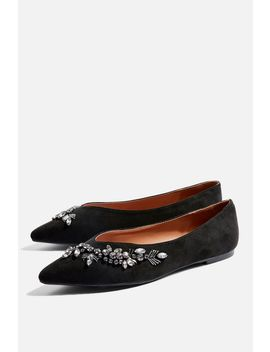 Sweetheart Embroidered Slippers by Topshop