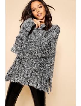 Oversized Boyfriend Tinsel Jumper by Boohoo