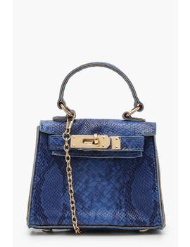 Faux Snake Mini Grabag by Boohoo