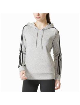 Adidas Athletics 3 Stripes Cotton Hoodie   Women's by Adidas Athletics