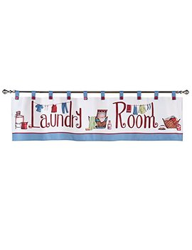 Collections Etc Laundry Room Décor Window Curtain Valance With Tab Top Button Design by Collections Etc