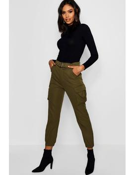 Belted Cargo Trouser by Boohoo