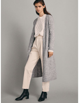 Lang Cardigan Med Lommer by Massimo Dutti