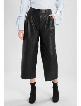 Sfsimone Cropped Pant    Leren Broek by Selected Femme