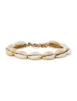 Gold Tone Shell Bracelet by Isabel Marant