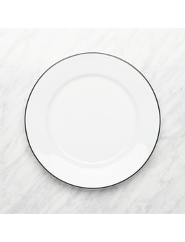 Aspen Black Band Dinner Plate by Crate&Barrel