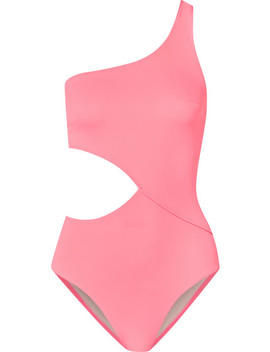 The Claudia One Shoulder Cutout Swimsuit by Solid & Striped