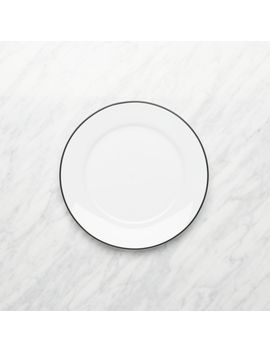Aspen Black Band Salad Plate by Crate&Barrel
