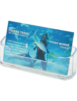 Staples® Clear Business Card Holder by Staples