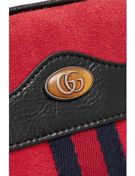 Ophidia Patent Leather Trimmed Suede Belt Bag by Gucci