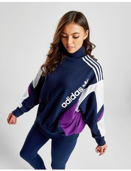 Adidas Originals 90's Colour Block High Neck Crew Sweatshirt by Adidas Originals