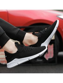 Male Breathable Sports Shoes Mesh Upper Flat Heel Lace Up Closure All Match Za by Ebay Seller