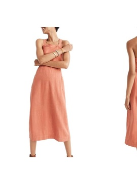 Current Season Madewell Dress In Ember/Coral by Madewell