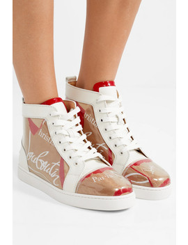 Louis Leather And Logo Print Pvc Sneakers by Christian Louboutin