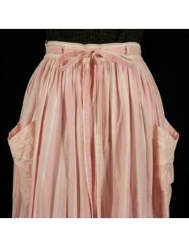 Vintage Dirndl Skirt Pink Stripes by Wiko Trachten