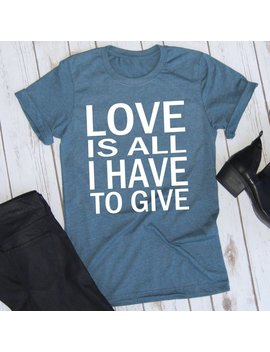 Love Is All I Have To Give With White Writing // Backstreet Boys Shirt // Concert Tee // Backstreet Boys Are Back Shirt by Etsy