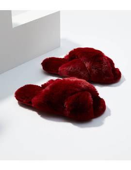 Faux Fur Slide Slippers by Loft