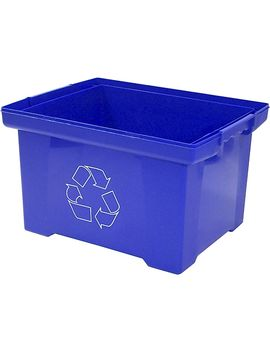 Storex 9gal Plastic Household Waste Basket, Blue (Stx61549 U01 C) by Storex